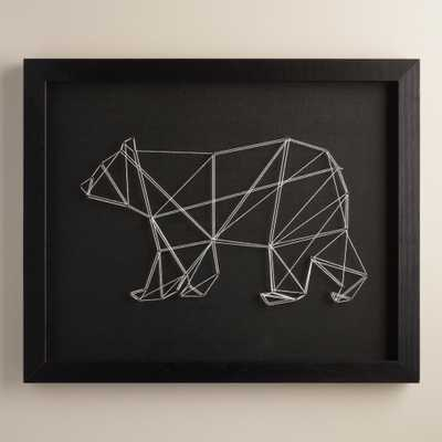 """Geo Bear String Wall Art by Christine Tong 22""""x18"""" Framed - World Market/Cost Plus"""