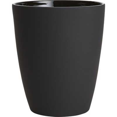 Rubber coated black wastecan - CB2