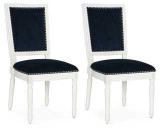 Navy Lucy Side Chairs, Pair - One Kings Lane