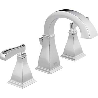 Delta Olmsted Chrome 2-Handle Widespread WaterSense Bathroom Faucet (Drain Included) - Lowes