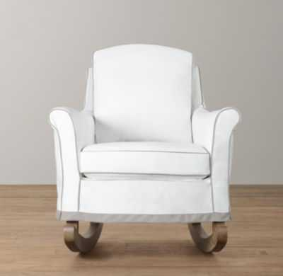 roll arm rocker with slipcover - RH Baby & Child