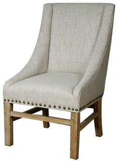 Aaron Dining Slope-Arm Chair - One Kings Lane