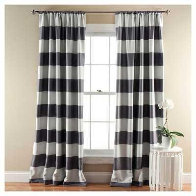Stripe Curtain Panels - Room Darkening - Set of 2 - Target