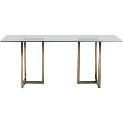 "Silverado brass 72"" rectangular dining table - CB2"