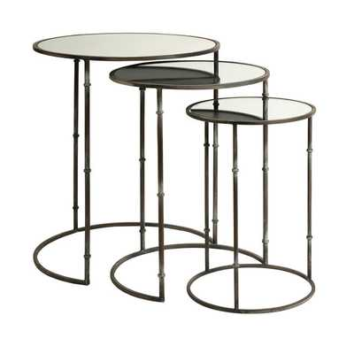 Flouressa Mirror Top Nesting Tables (Set of 3) - Overstock