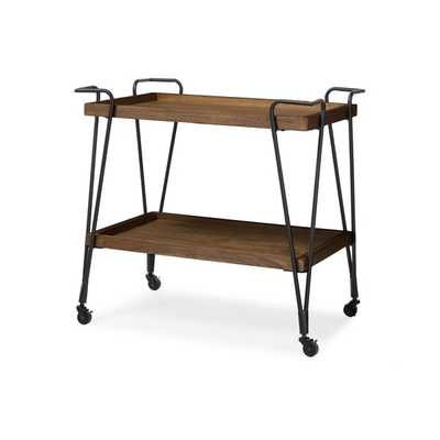 Baxton Studio Distressed Ash Wood Bar Cart - Overstock