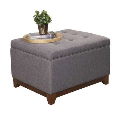 Upholstered Storage Cocktail Ottoman - Charcoal Gray - Wayfair