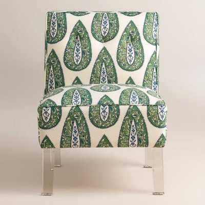 Randen Upholstered Chair in Green Prints - World Market/Cost Plus