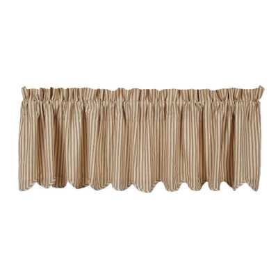 "Millie Scalloped Lined 72"" Curtain Valance - Wayfair"