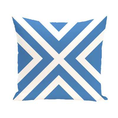 "Coastal Calm Geometric Throw Pillow - Blue - 20"" H x 20"" W - Faux down - AllModern"