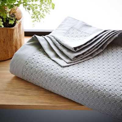 Coyuchi Organic Cotton Jacquard Blanket - King - West Elm