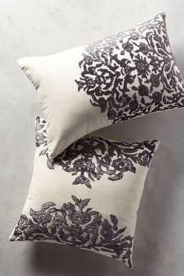 Vining Velvet Pillow - Anthropologie