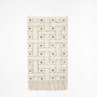 Sequin Shag Wall Tapestry - Squares - West Elm