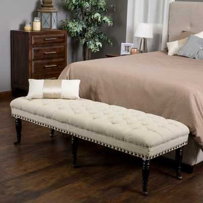 Christopher Knight Home Hastings Tufted Fabric Ottoman Bench - Overstock