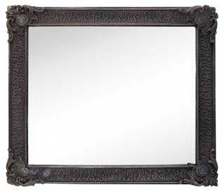 Slate Gray Gesso Mirror - One Kings Lane