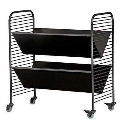Linear Book Cart Black - Land of Nod