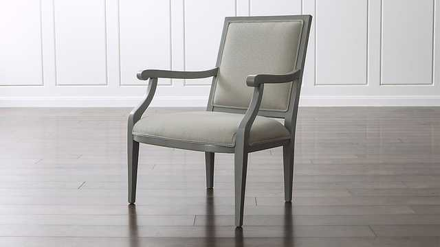 Cherise Grey Chair - Crate and Barrel