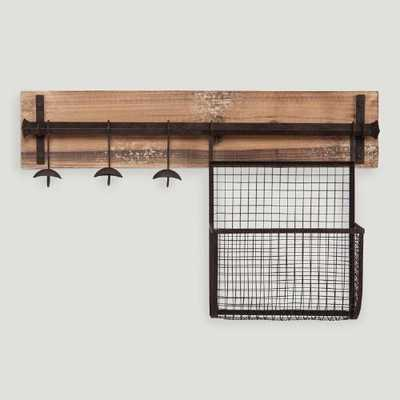 Wood and Metal Entryway Wall Storage - World Market/Cost Plus