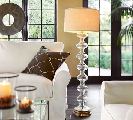 Jasmine Glass Floor Lamp Base - Pottery Barn