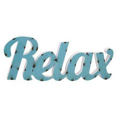 Aurora Relax Decorative Wall Sculpture - Blue - Target