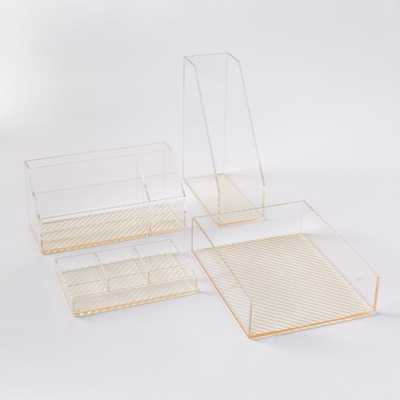 Acrylic Office Accessories-Assorted Set of 4 - West Elm