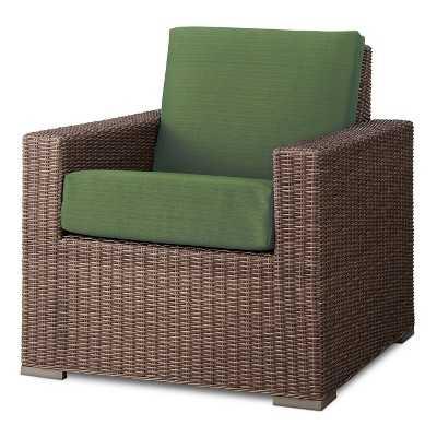 Heatherstone Wicker Patio Club Chair - Green - Target
