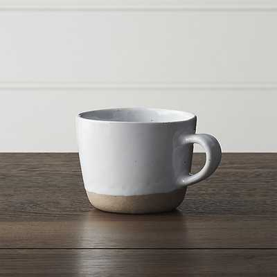 Welcome White Mug - Crate and Barrel
