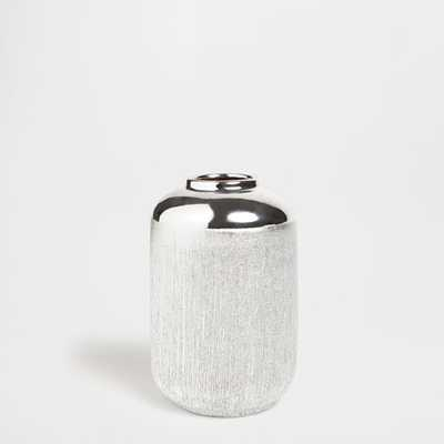 CYLINDRICAL SCORED CERAMIC VASE - Zara Home