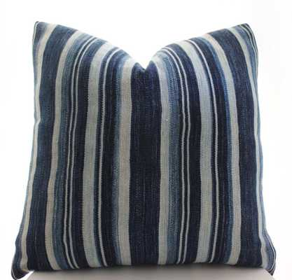 African Indigo Cloth Boho Pillow Cover Only - Etsy