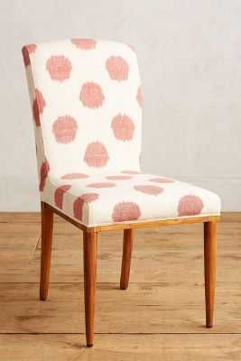 Elza Ikat Dining Chair - White & Pink - Anthropologie