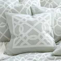 Suzanne Kasler Quatrefoil Sham - Ballard Designs