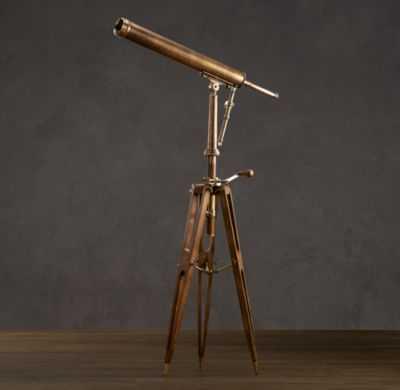 19TH C. PARISIAN BRASS TELESCOPE - RH