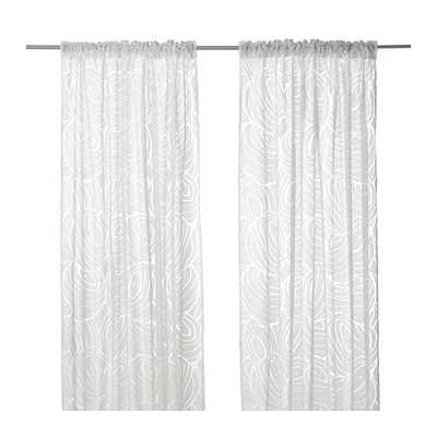 "NORDIS Sheer curtains, 1 pair, white - 57"" x 98"" - Ikea"