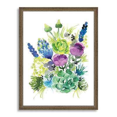 Minted for west elm - Wild Succulent - Framed - West Elm