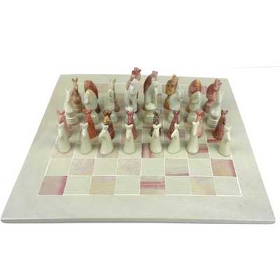 Hand-carved Animal Chess Set - Overstock