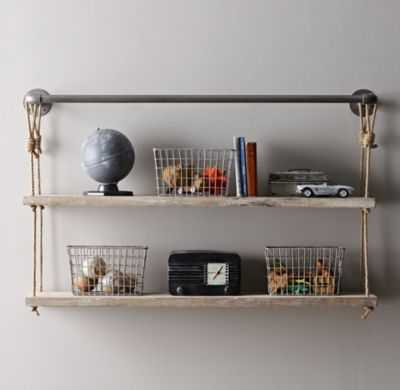 Industrial pipe & rope shelf - RH Baby & Child