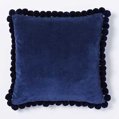 """Jay Street Pom Pom Pillow Cover - Nightshade - 18""""sq - Insert sold separately - West Elm"""