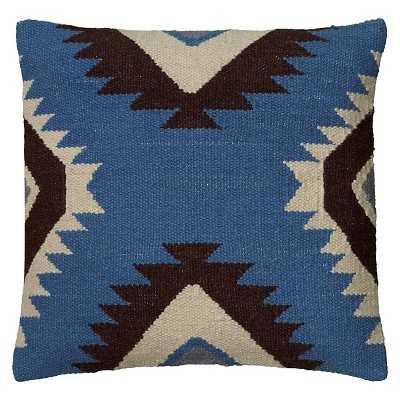 Rizzy Home Textured Southwestern Stripe Pillow - Blue/Black - Target