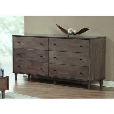 Vilas Light Charcoal 6-drawer Dresser - Overstock