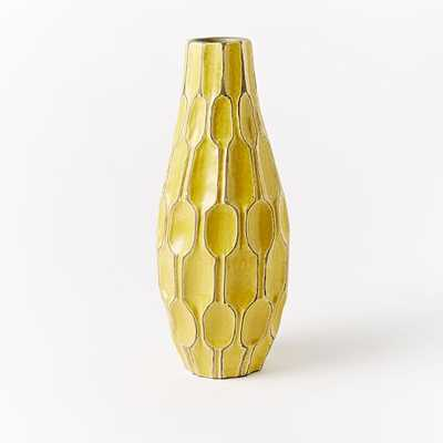 Tall Teardrop Vase- Saffron - West Elm
