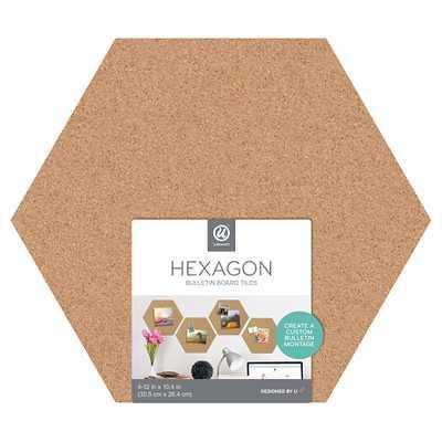 Cork Hex Tiles 3ct - Target