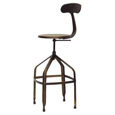 Baxton Studio Architect's Industrial Adjustable Height Swivel Bar Stool - Wayfair