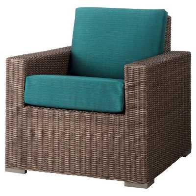 Heatherstone Wicker Patio Club Chair - Turquoise - Target