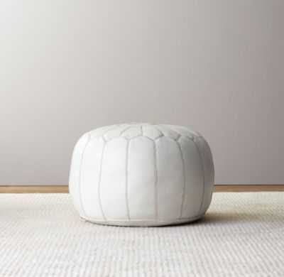 moroccan leather pouf - RH Baby & Child