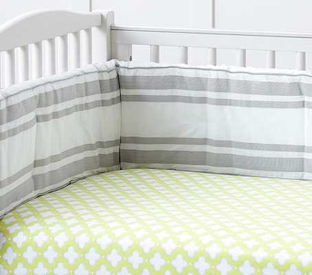 Harper Clover Geo Crib Fitted Sheet - Pottery Barn Kids