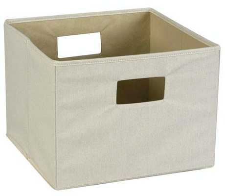 CANVAS HANDLED STORAGE BIN - Home Decorators