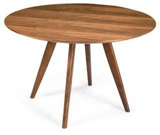 """Dover 47"""" Round Dining Table, Walnut - One Kings Lane"""