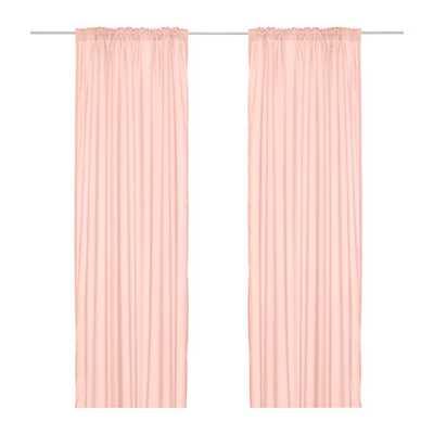 VIVAN Curtains, 1 pair, pale pink - Ikea