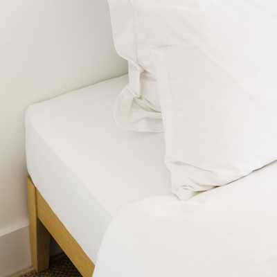 BASIC ADJUSTABLE PERCALE FITTED BOTTOM SHEET (MATTRESS UP TO 11 INCHES) - Zara Home