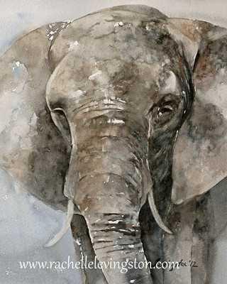 painting elephant print Large -11x14-Unframed - Etsy